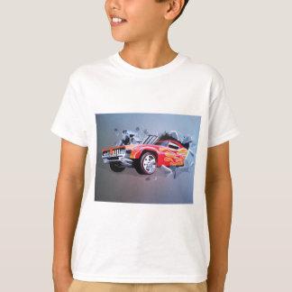 Car Crashing Through Wall T-Shirt