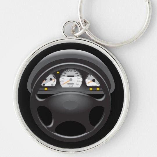 Car Dashboard & Steering Wheel Keychain