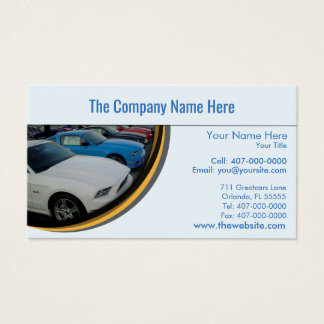 Car Dealership-Auto Sales Associate Business Card