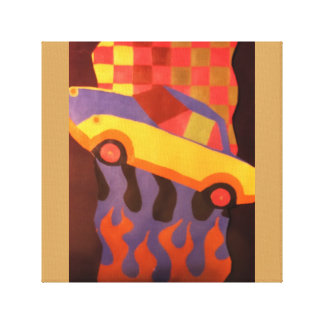 Car design canvas canvas print