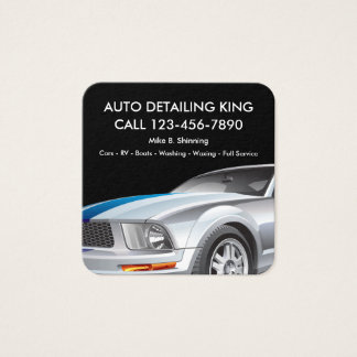 Car Detailing Cool Businesscards Square Business Card