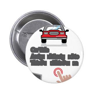 Car Document Click Sign 6 Cm Round Badge