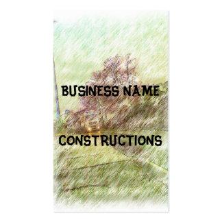 car drawing business card templates