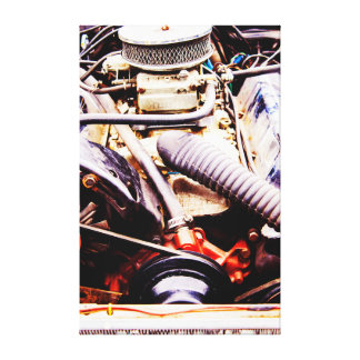 Car Engine Canvas Canvas Print