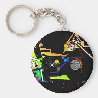 Car engine key ring