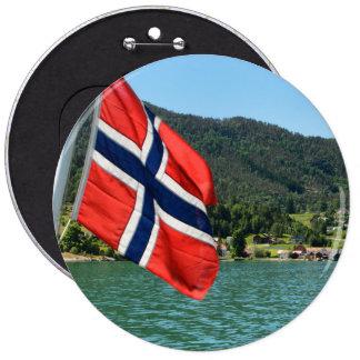 Car ferry in Norway 6 Cm Round Badge