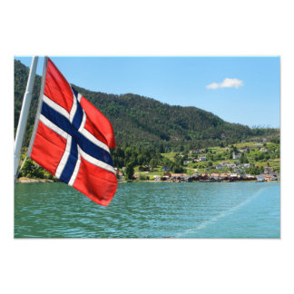 Car ferry in Norway Photo Print