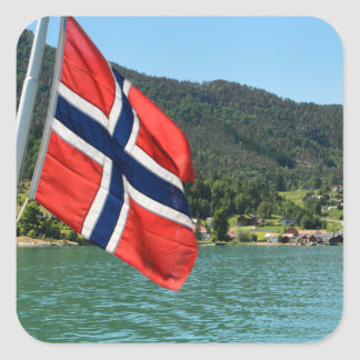 Car ferry in Norway Square Sticker