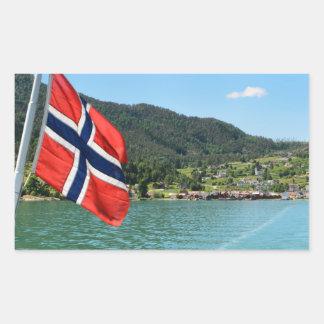 Car ferry in Norway Rectangular Sticker