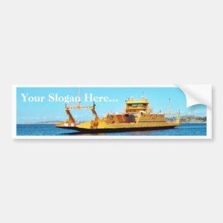Car Ferry Ship Car Bumper Sticker