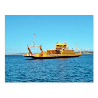 Car Ferry Ship Postcard