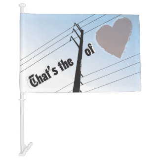 Car Flag POWER OF LOVE SILOUETTE