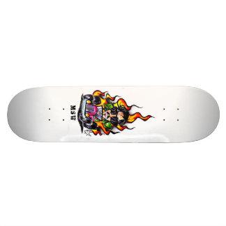 Car Flame Shape 21.6 Cm Skateboard Deck