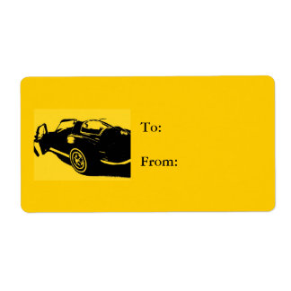 Car Gift tag Yellow Shipping Label