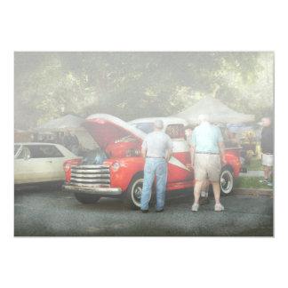 Car - Guys and cars 13 Cm X 18 Cm Invitation Card