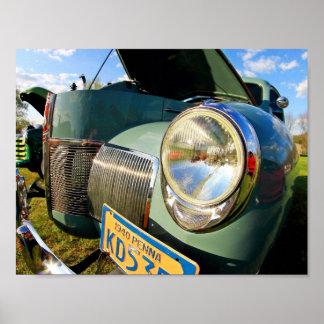 Car headlight poster