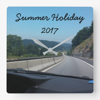 Car Holiday Mountains Europe Austria Photography Square Wall Clock