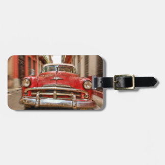 Car in the streets of Havana, Cuba luggage tag