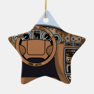 Car interior Wood Trim Vector Christmas Ornament