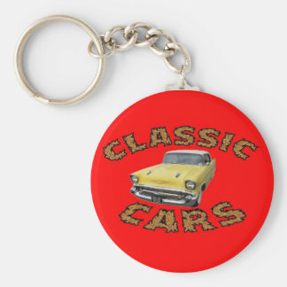 Car keychain. basic round button key ring