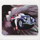 Car legs red high heel shoes mouse pad