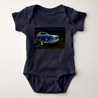 Car lighting baby bodysuit