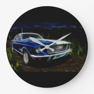 Car lighting large clock