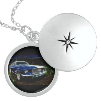 Car lighting locket necklace