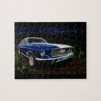Car lightning jigsaw puzzle