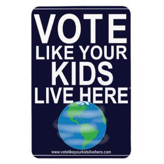 Car Magnet- Vote Like Your Kids... (cartoon earth) Magnet