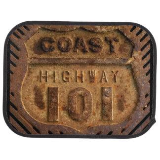 Car Mat of Coast hiway 101 design