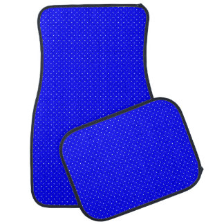 Car Mats Royal Blue with White Dots Floor Mat