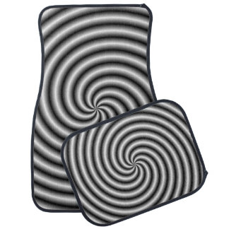 Car Mats  The Swirl in Black and White Floor Mat