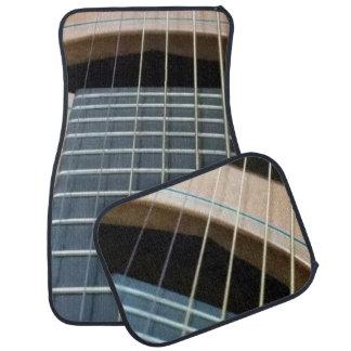Car mats with guitar image (set of 4)