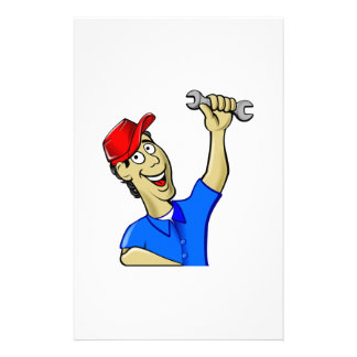 Car Mechanic Holding a Wrench Customized Stationery