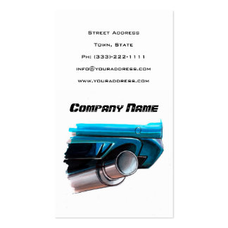 Car Muffler Automotive Sketched Art White Card Pack Of Standard Business Cards