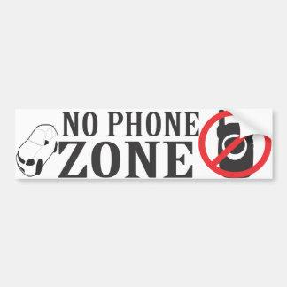 Car No Phone Zone Bumper Sticker