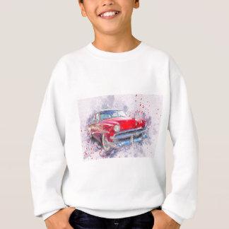 Car Old Car Abstract Watercolor Vintage Classic Sweatshirt