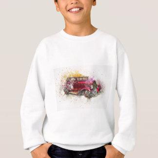 Car Old Car Art Abstract Watercolor Vintage Sweatshirt