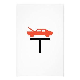 CAR ON LIFT PERSONALIZED STATIONERY
