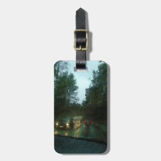Car on the road luggage tag