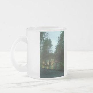 Car on the road coffee mugs