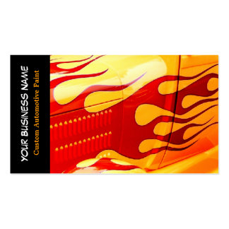 Car Painting Flames Paint Job on Car Business Card Templates