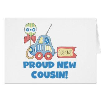 Car Proud New Cousin It's a Boy Card