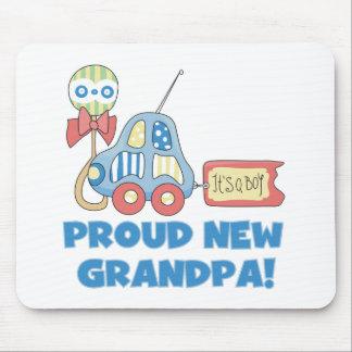 Car Proud New Grandpa It's a Boy Mouse Pad