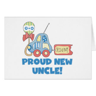 Car Proud New Uncle It's a Boy Greeting Card