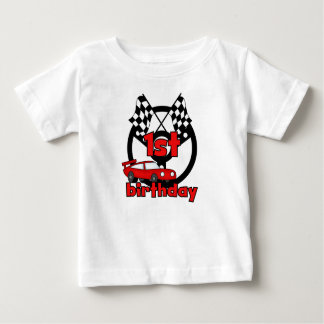 Car Racing 1st Birthday Baby T-Shirt
