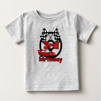 Car Racing 3rd Birthday Baby T-Shirt