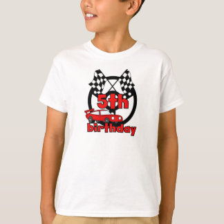 Car Racing 5th Birthday T-Shirt