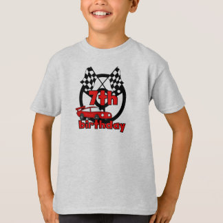 Car Racing 7th Birthday T-Shirt